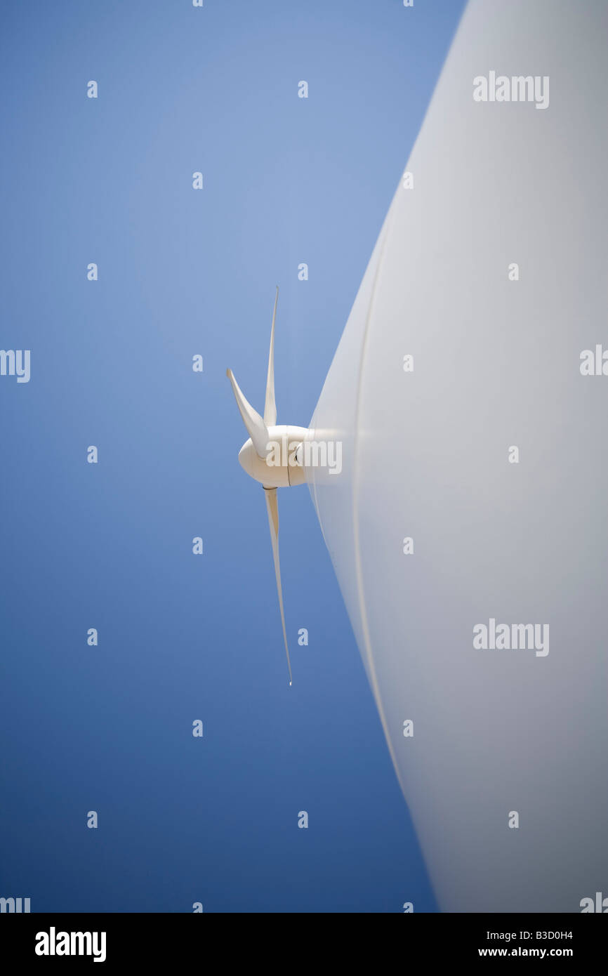 Wind turbine, close-up - Stock Image
