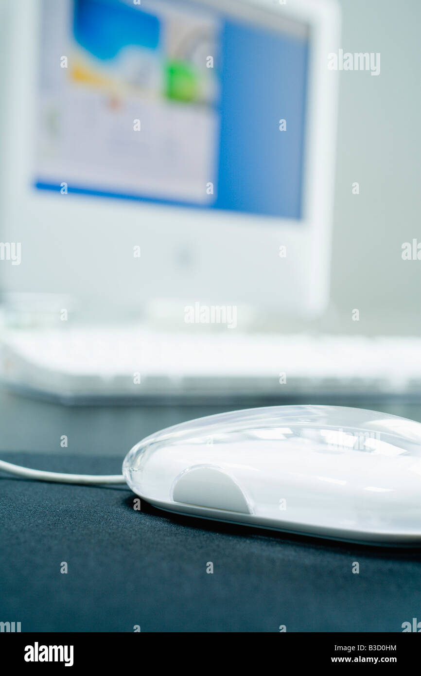 PC-mouse, close-up - Stock Image