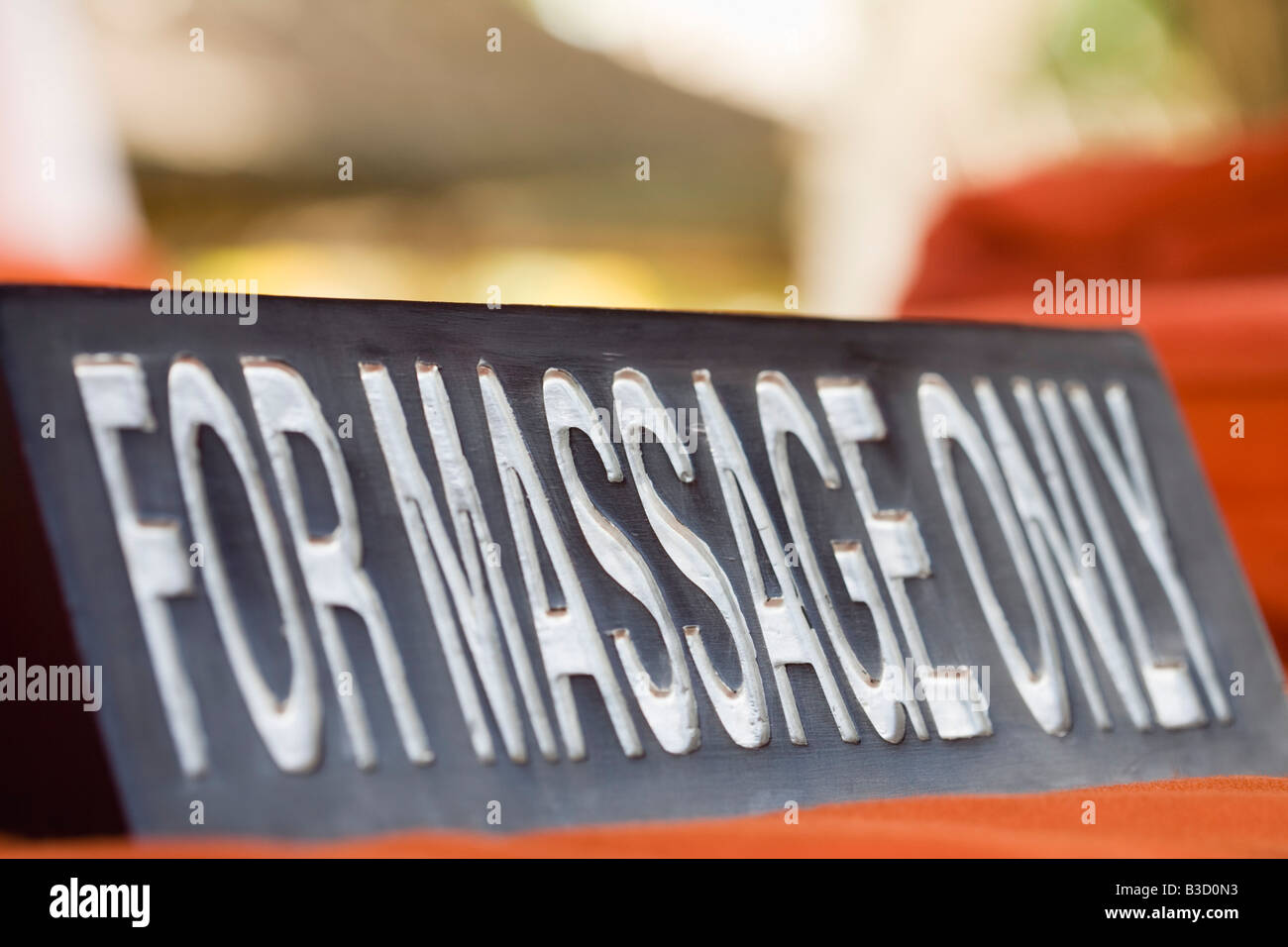 Massage sign, close-up - Stock Image