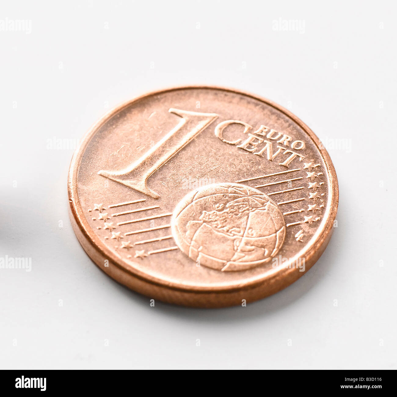 1 Euro Cent, close-up - Stock Image