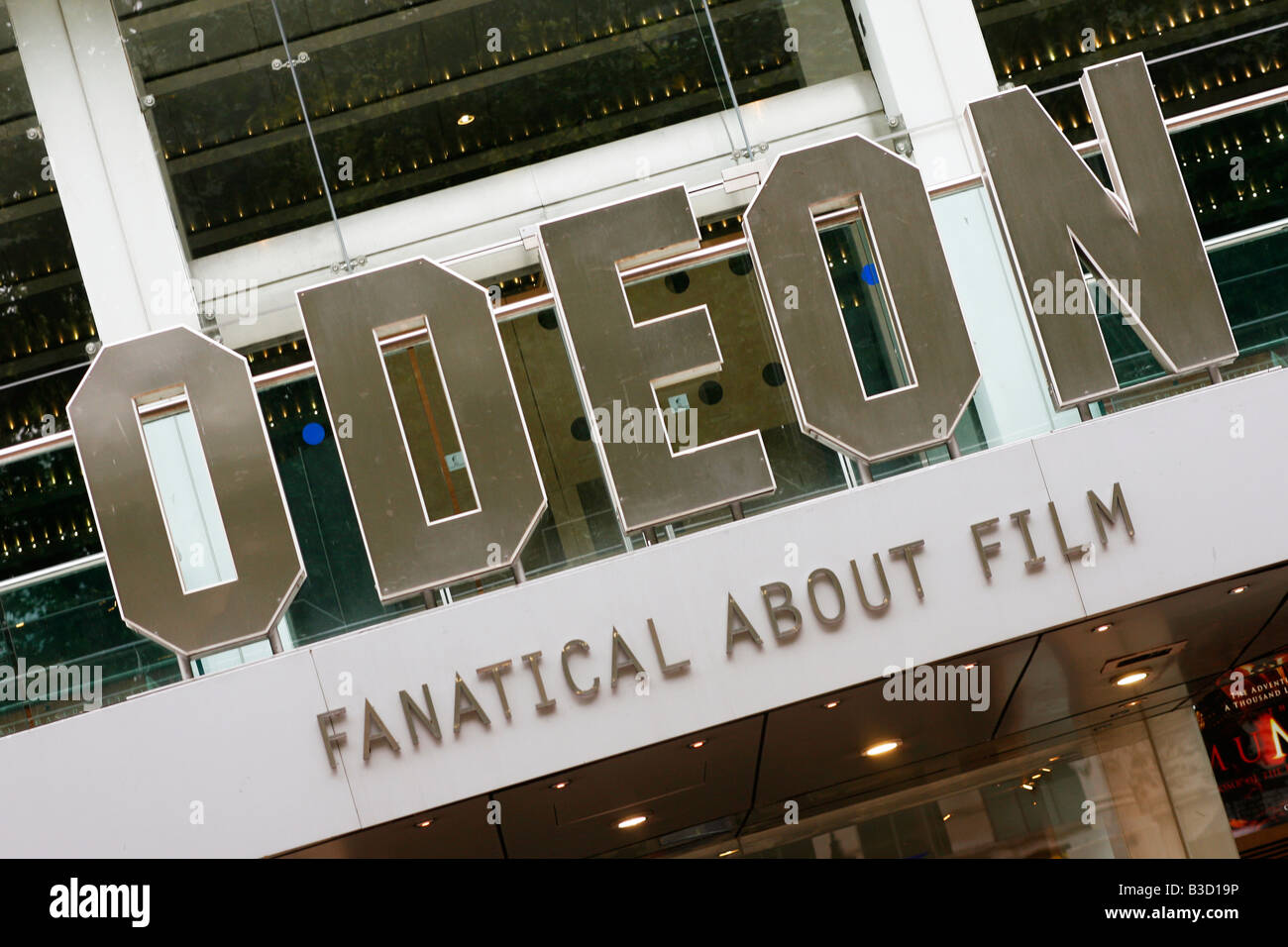 Odeon cinema sign - Stock Image