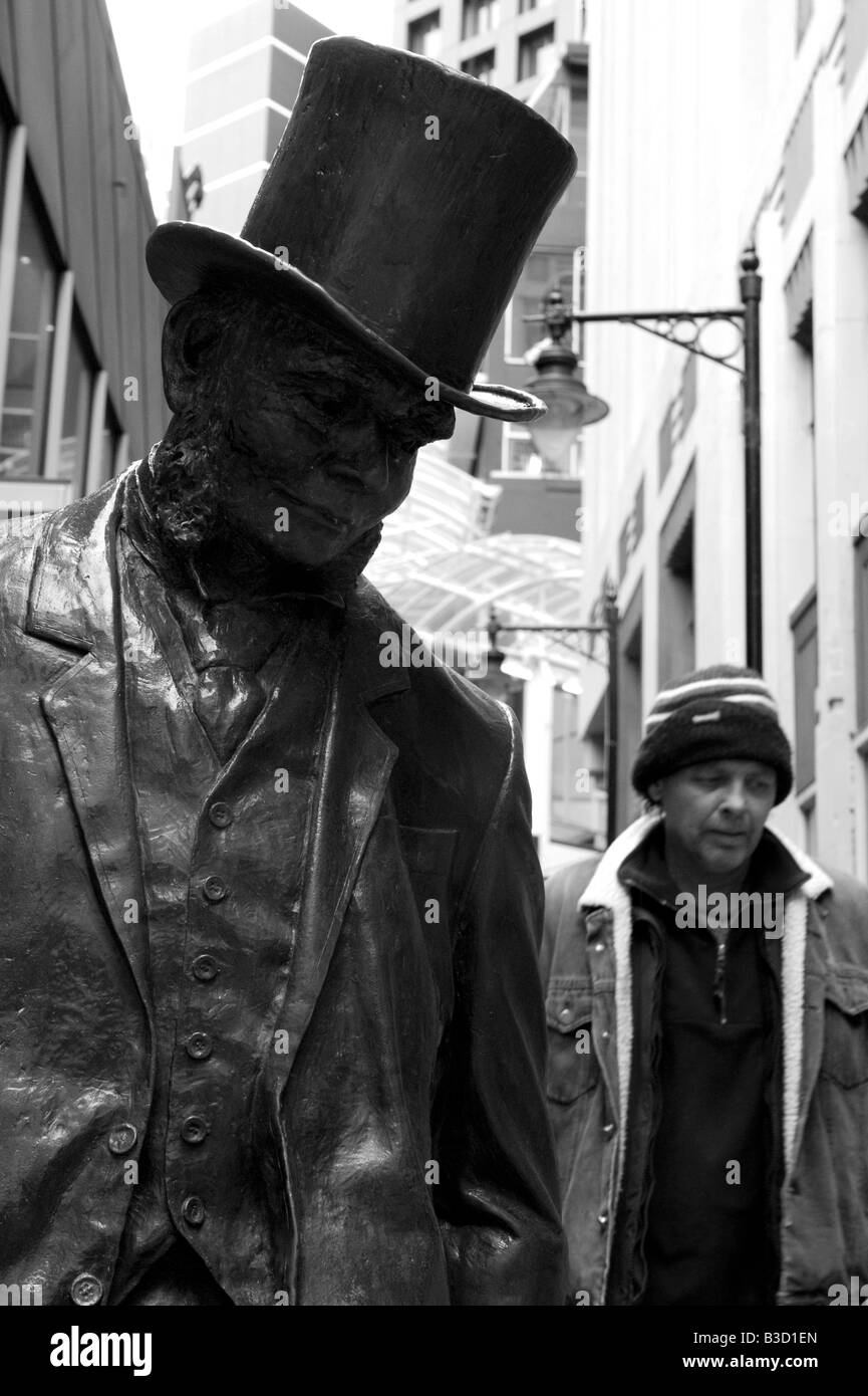 Statue of Lord Plimmer past Mayor of Wellington City New Zealand - Stock Image
