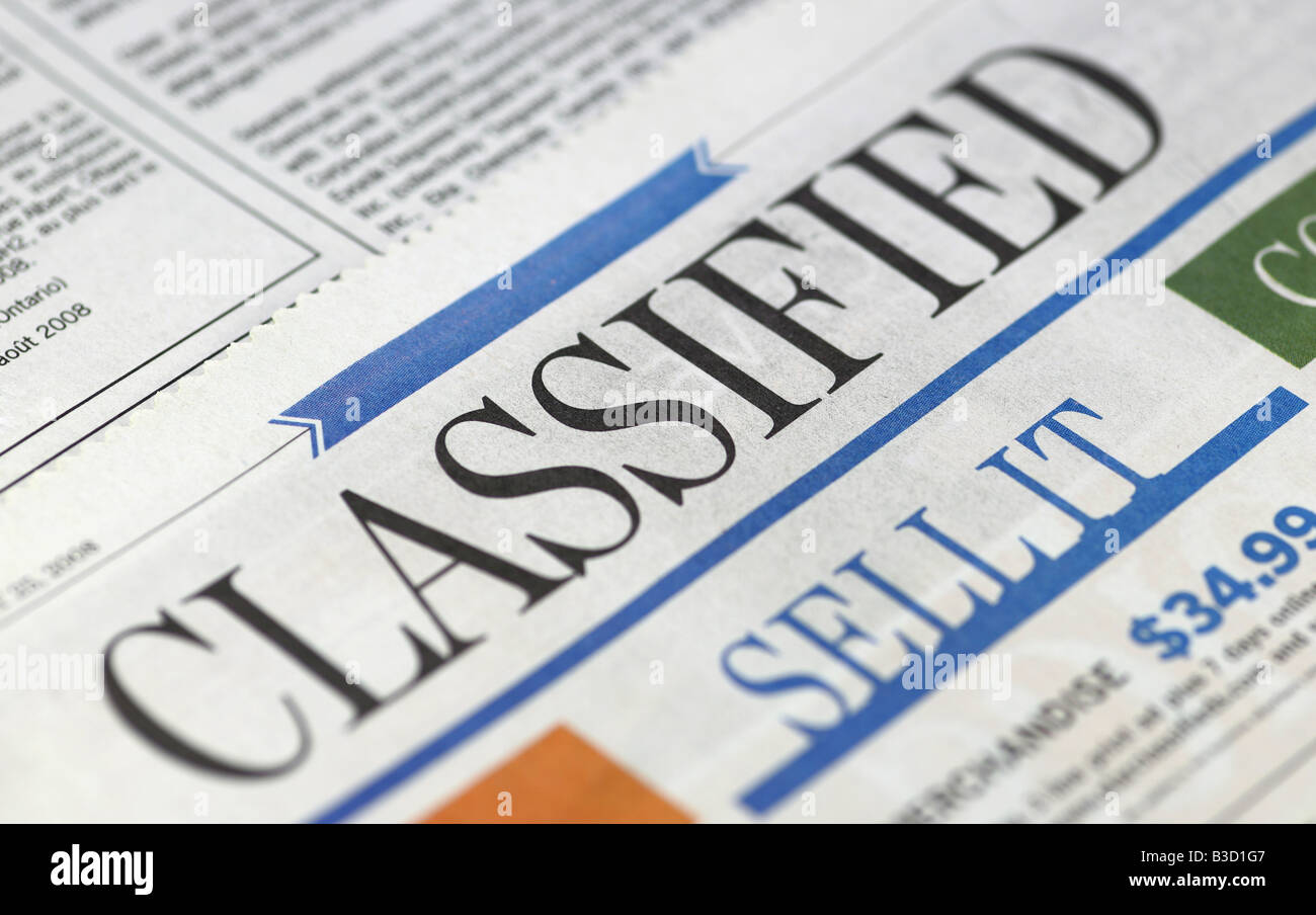 Classified Advertising Stock Photos & Classified Advertising