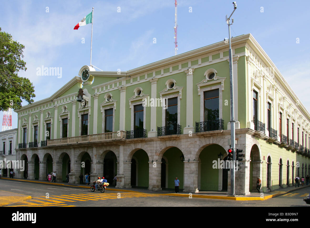 Spanish Colonial Style Architecture Merida Yucatan Peninsular