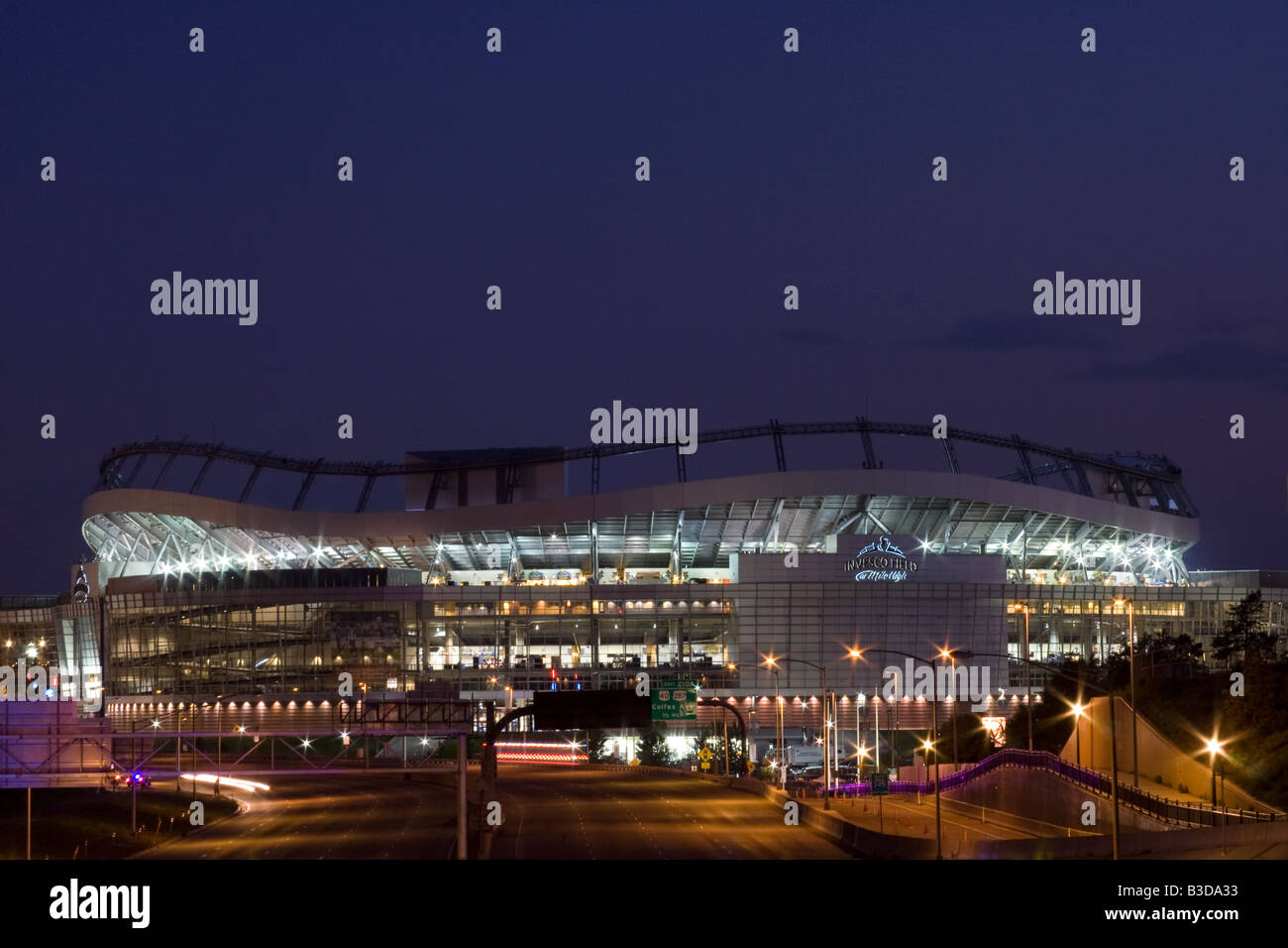 INVESCO Field at Mile High the night Barack Obama delivered his speech accepting Democratic Presidential nomination. - Stock Image