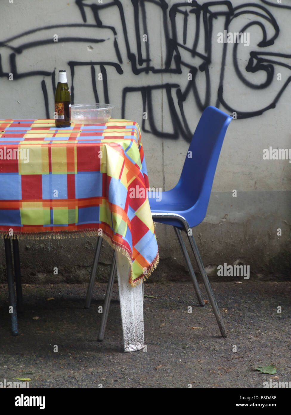 table setting with cover in outside restaurant & table setting with cover in outside restaurant Stock Photo: 19347651 ...