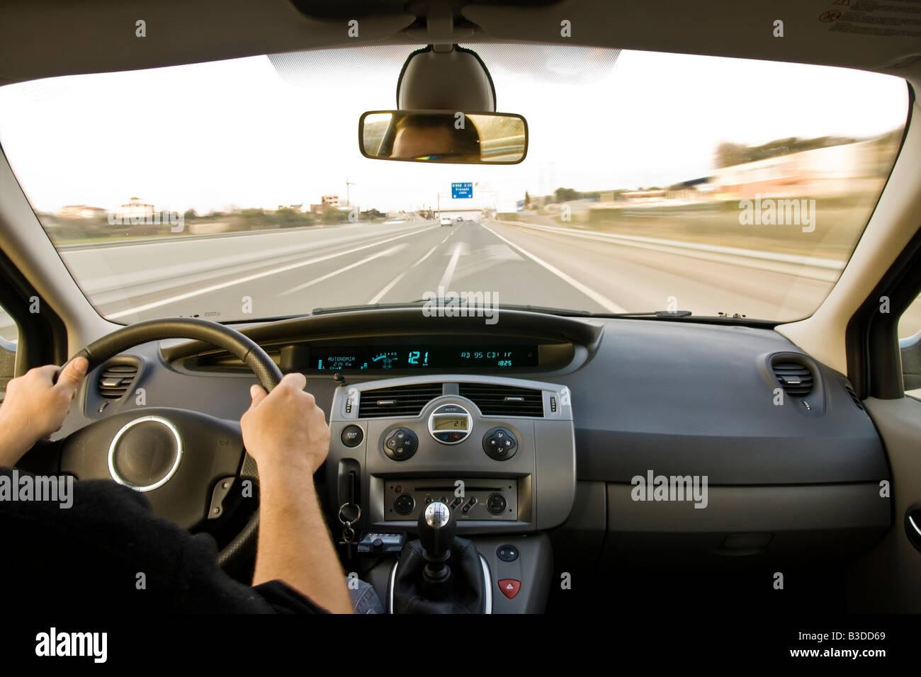 Inside Car View High Speed Stock Photos Amp Inside Car View