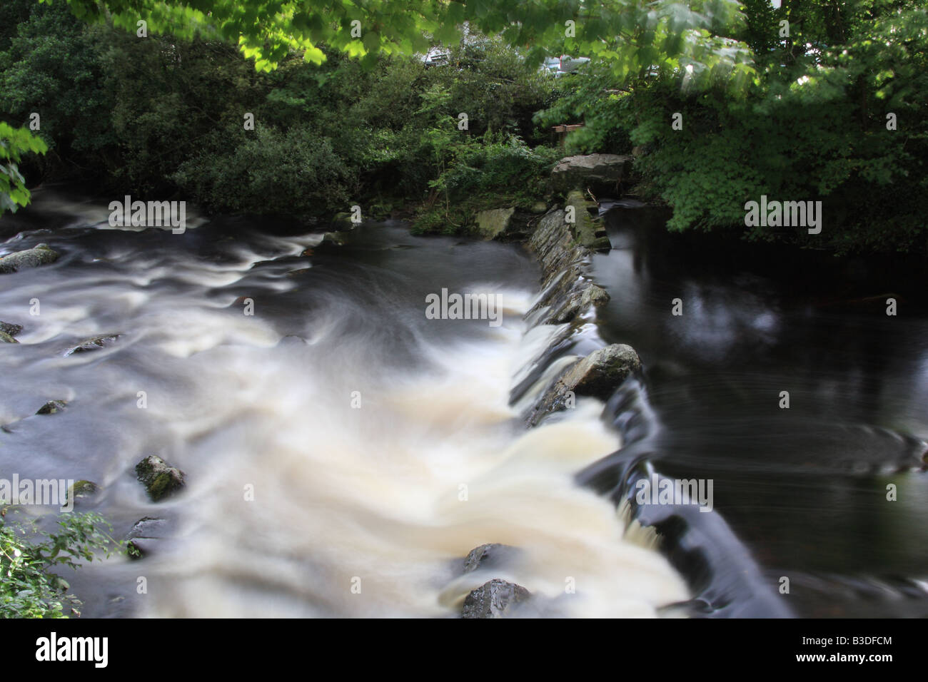 River Erme in Ivybridge - Stock Image