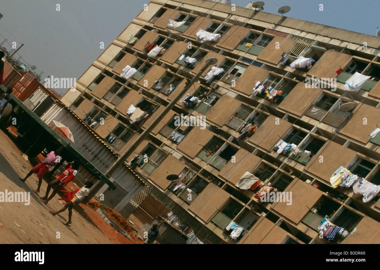Residential buildings in Luanda, Angola. - Stock Image