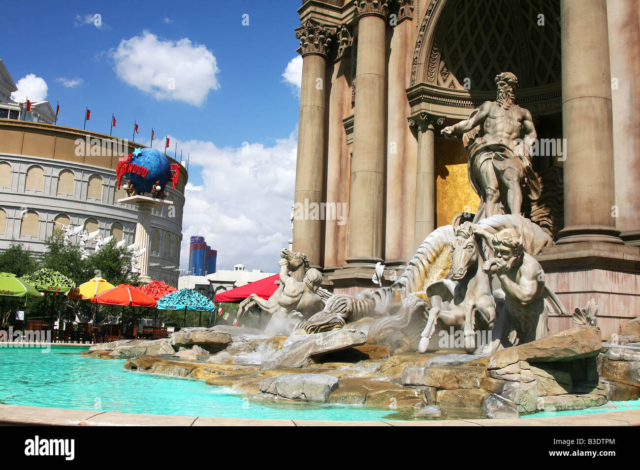 The Trivi fountain at Caesar's Palace in Las Vegas Stock Photo