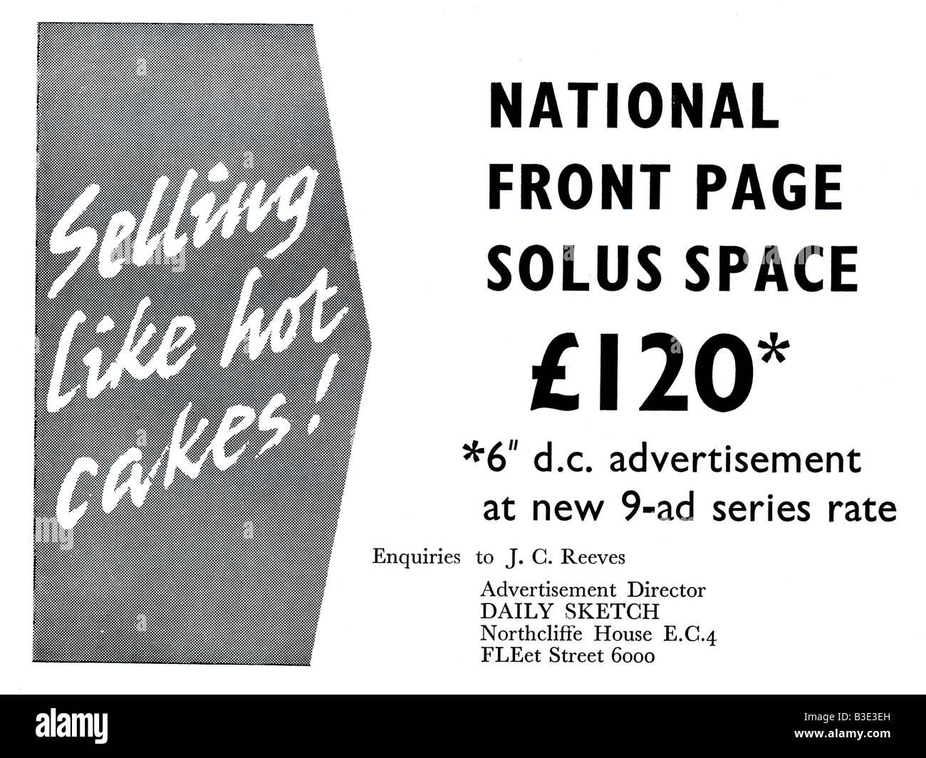 Advertisement for the UK Daily Sketch  Newspaper from Advertiser's Weekly Journal Magazine 6 April 1962 FOR - Stock Image