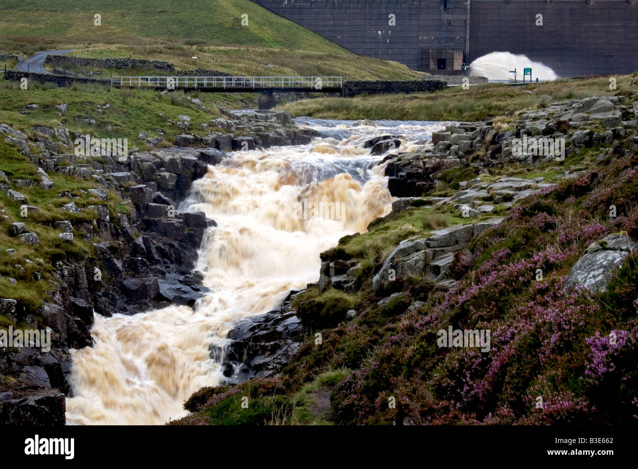 Cauldron Snout waterfall Upper Teesdale - Stock Image