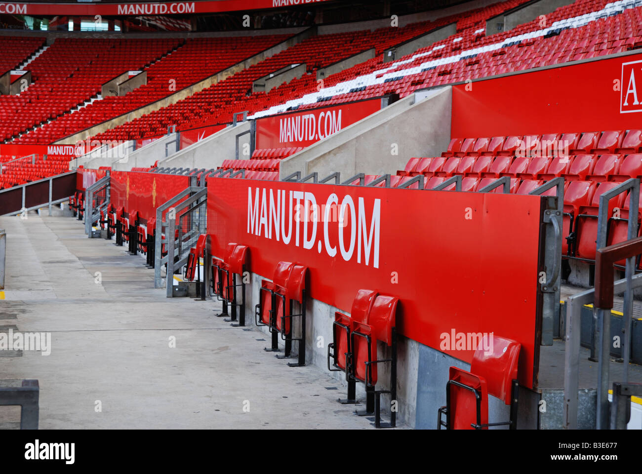 inside old trafford the home of manchester united football club,england,uk - Stock Image