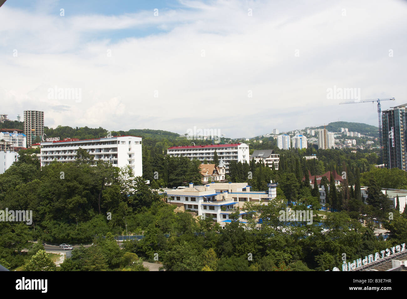 Hotel in a city of Sochi - Stock Image
