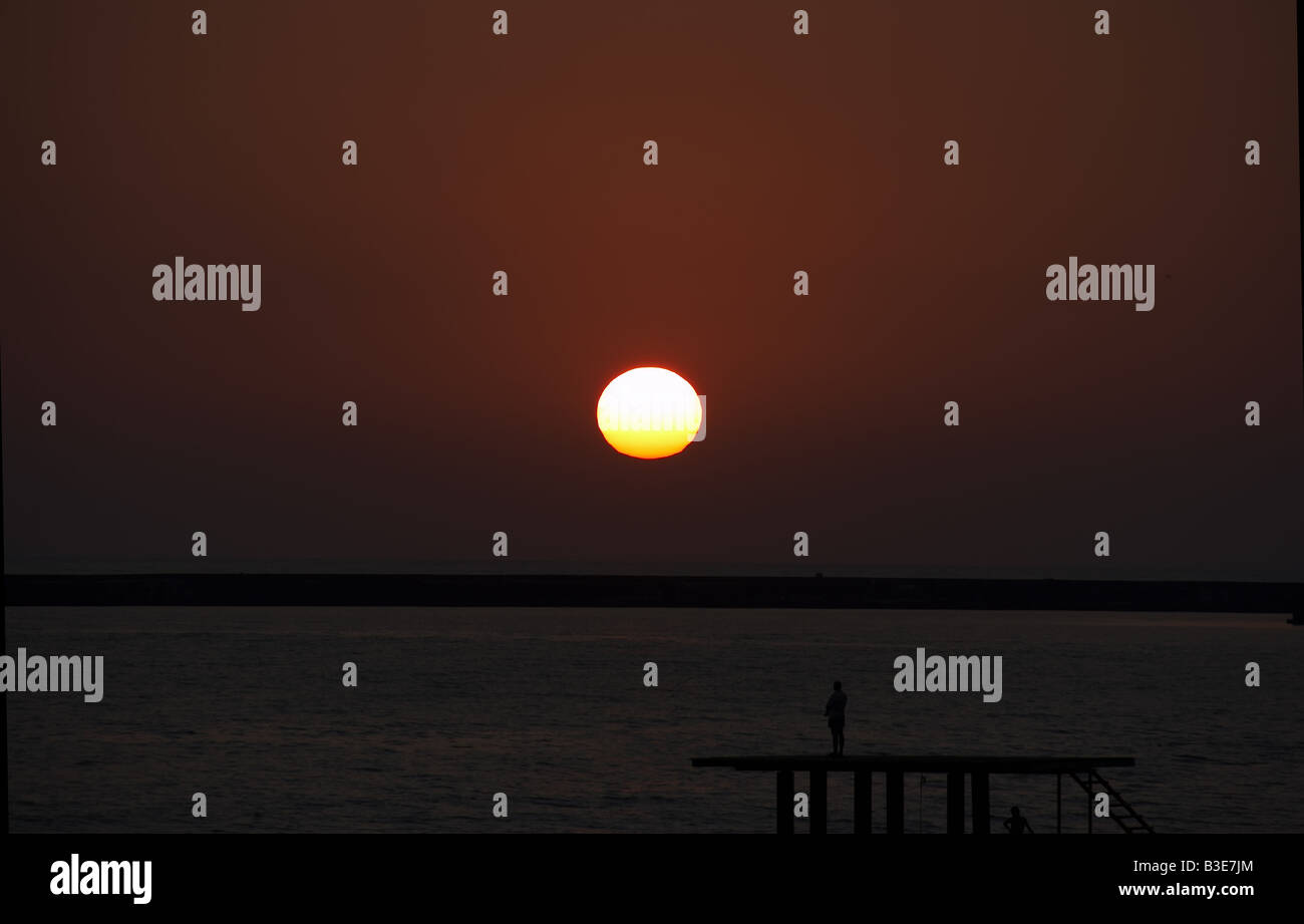 Decline on the sea - Stock Image