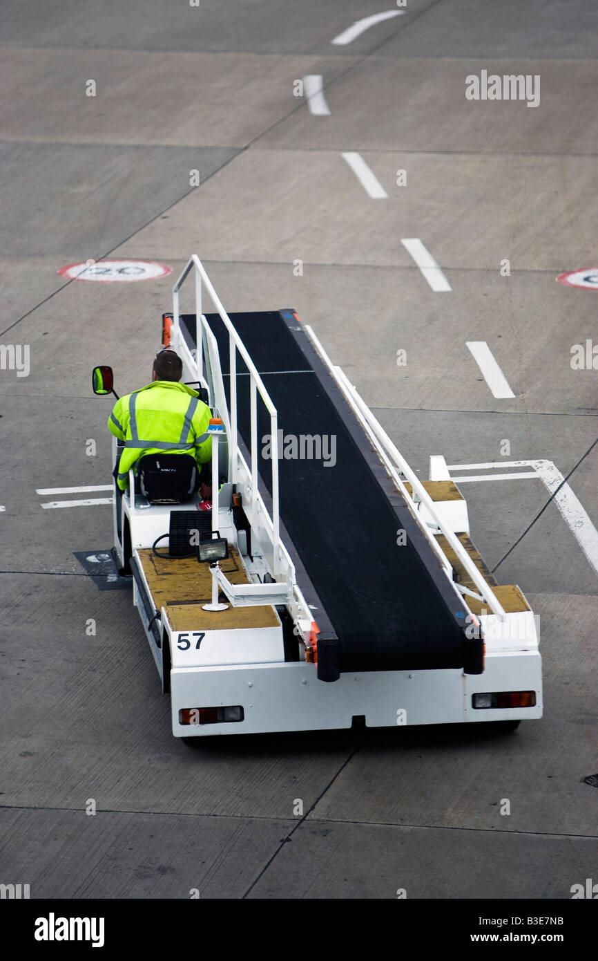 Air Side baggage handler - Stock Image