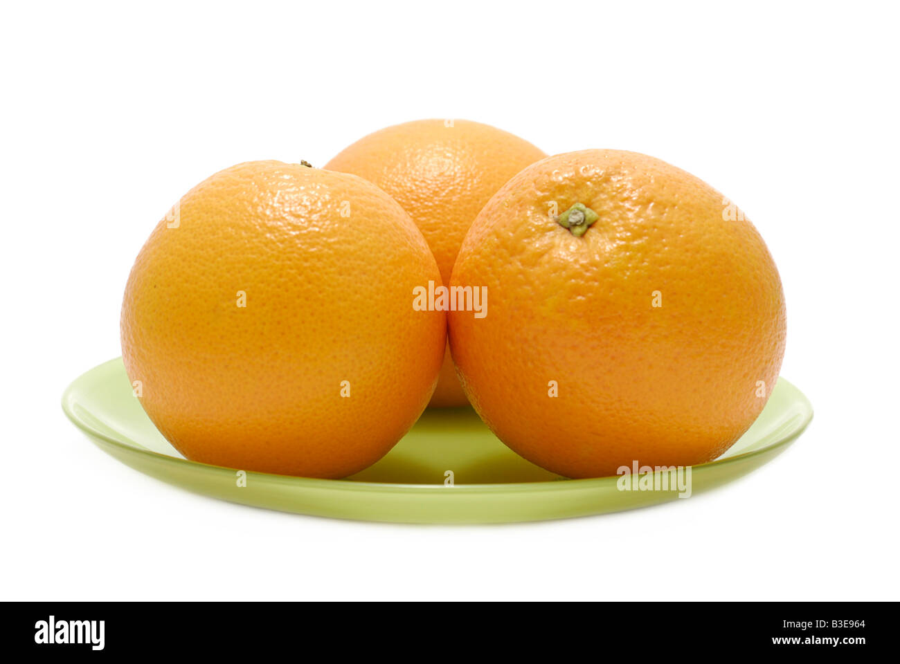 Oranges on a Plate - Stock Image