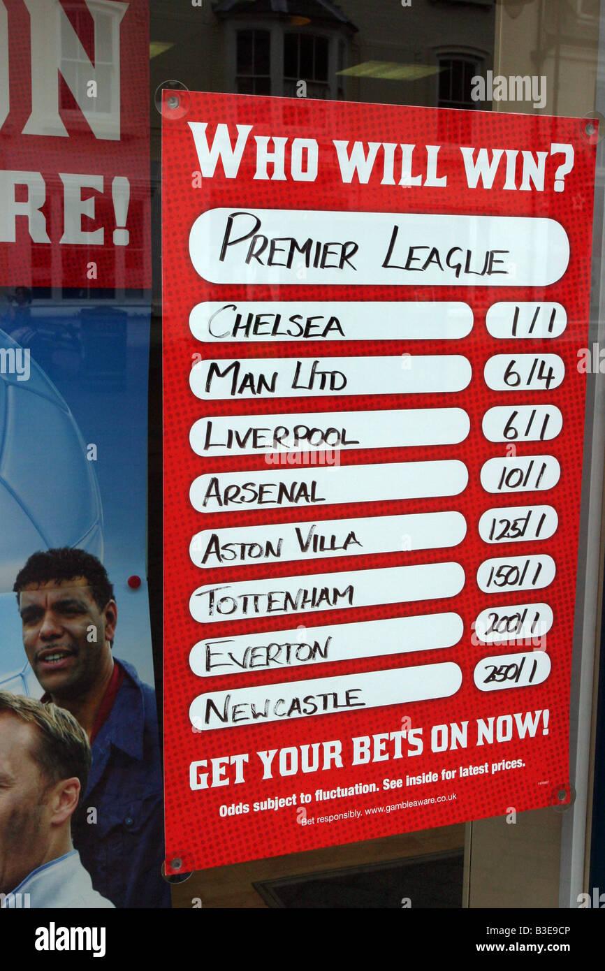 Betting Shop Window - Stock Image