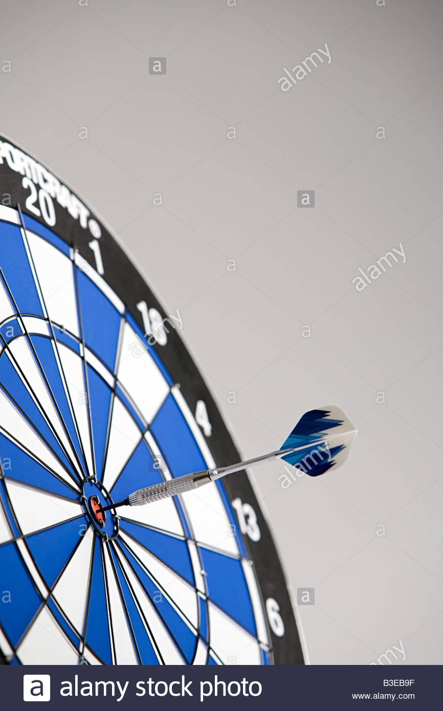 A dart on the bullseye - Stock Image