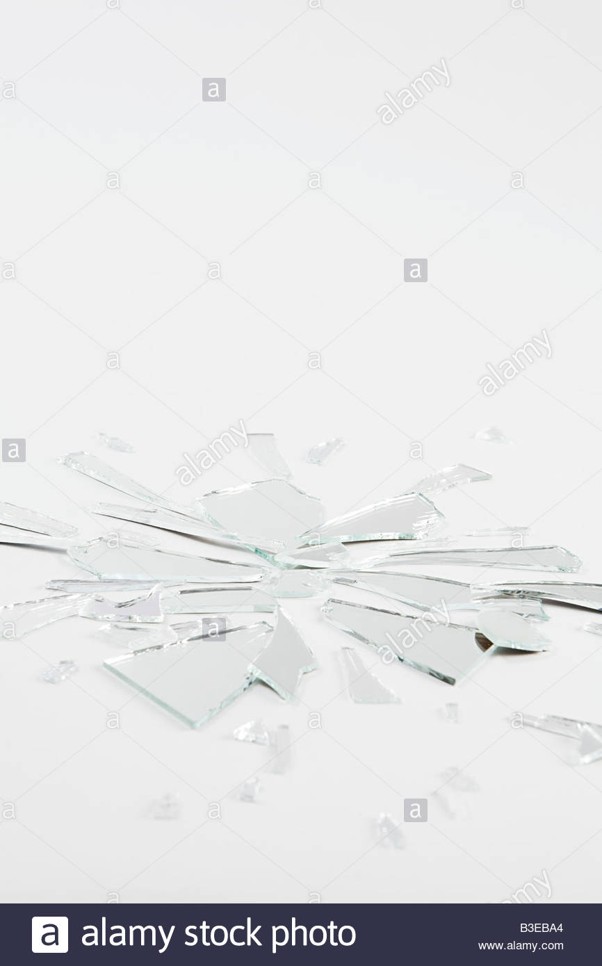 A shattered mirror - Stock Image