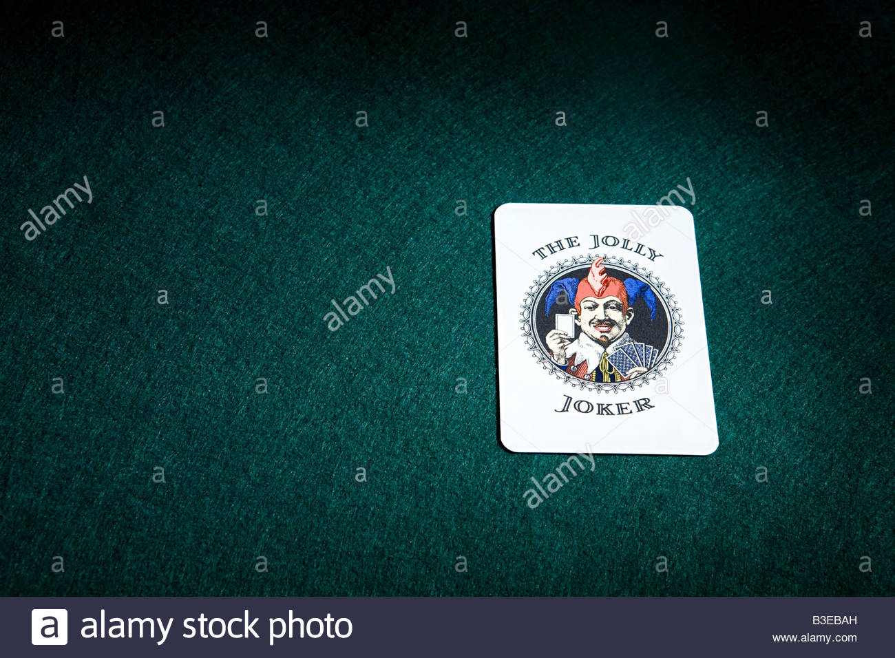 A joker playing card - Stock Image