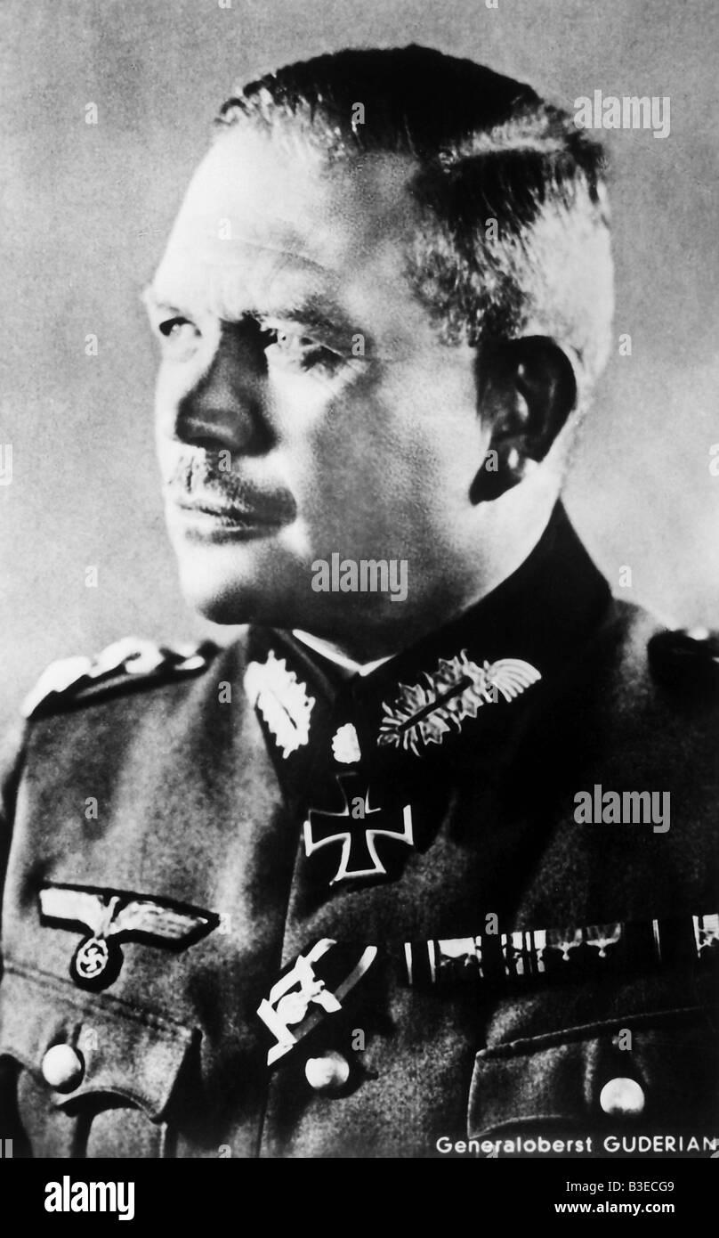 Heinz Guderian / Photo 1940. - Stock Image