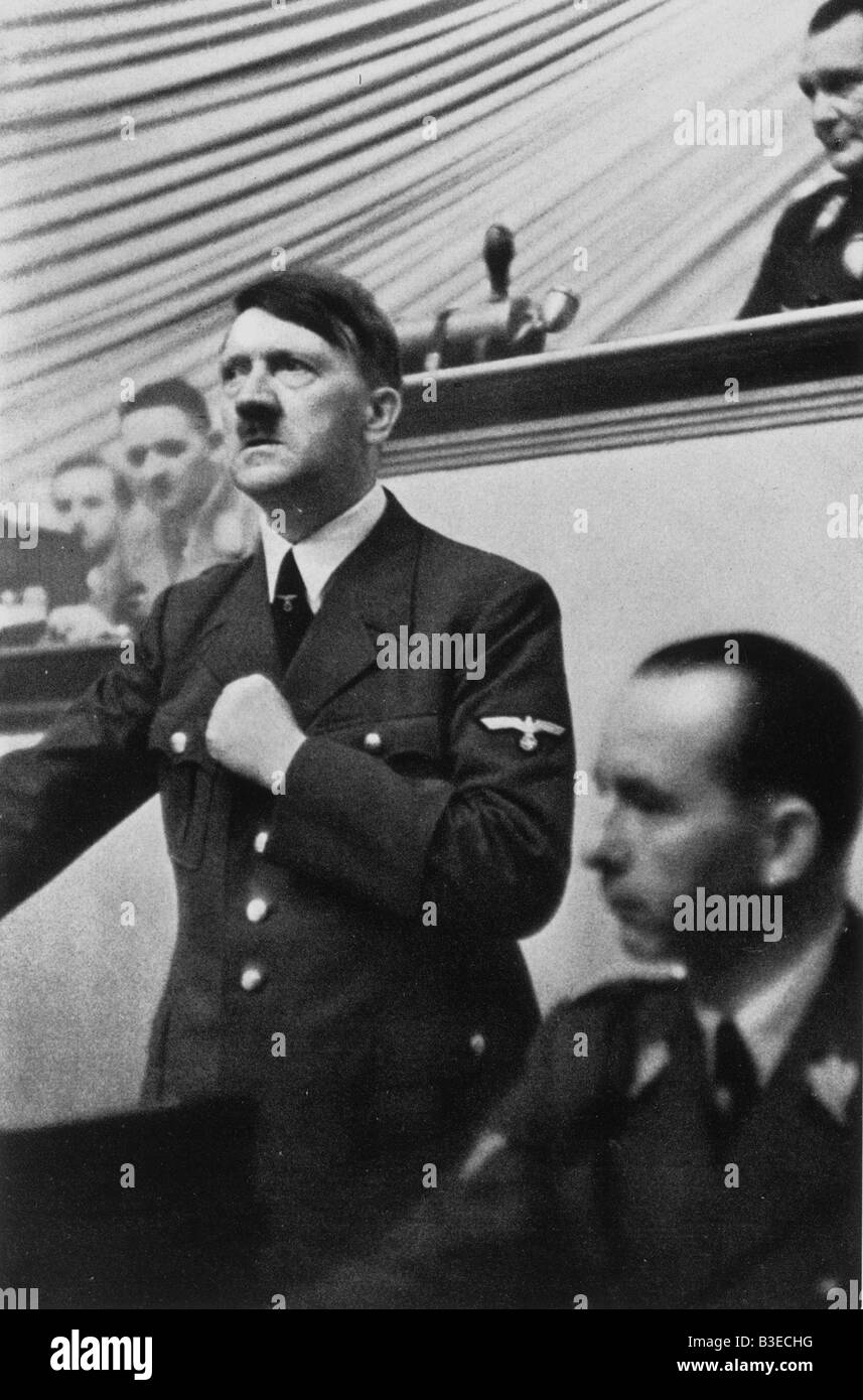 Hitler at Reichstag / 1.9.1939 - Stock Image