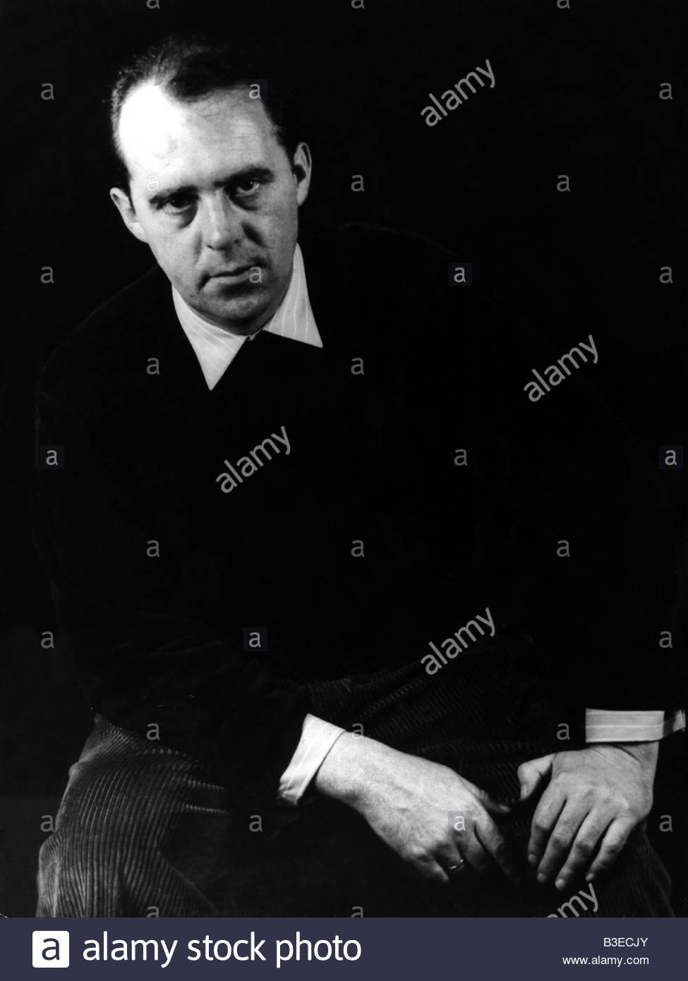 Böll, Heinrich  21.12.1917 - 16.7.1985, German author / writer, half length, , Additional-Rights-Clearances - Stock Image