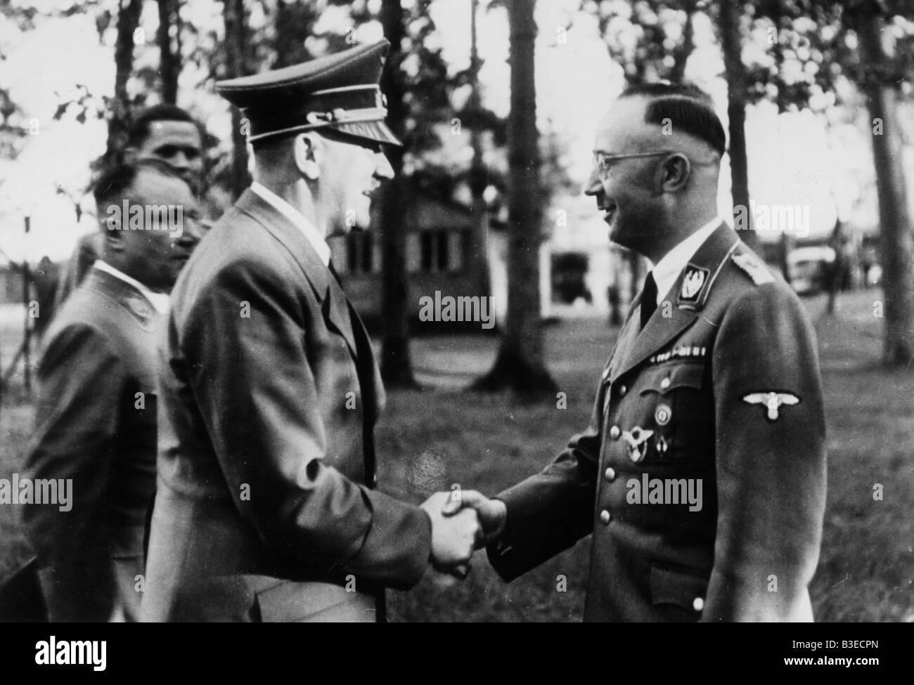 H.Himmler / Birthday Wishes Hitler /1943 - Stock Image