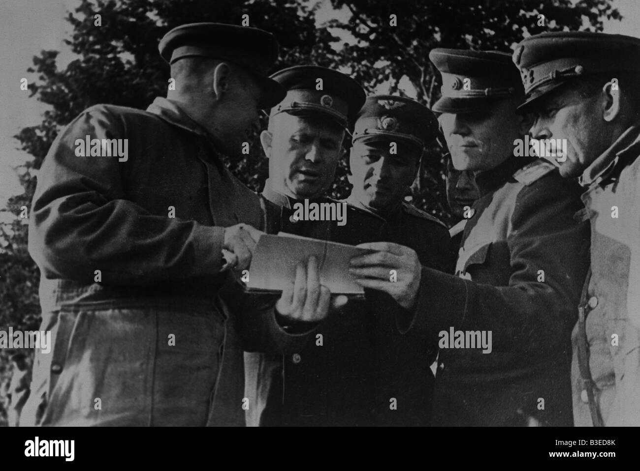 Khrushchev as General Leutenant / Front - Stock Image