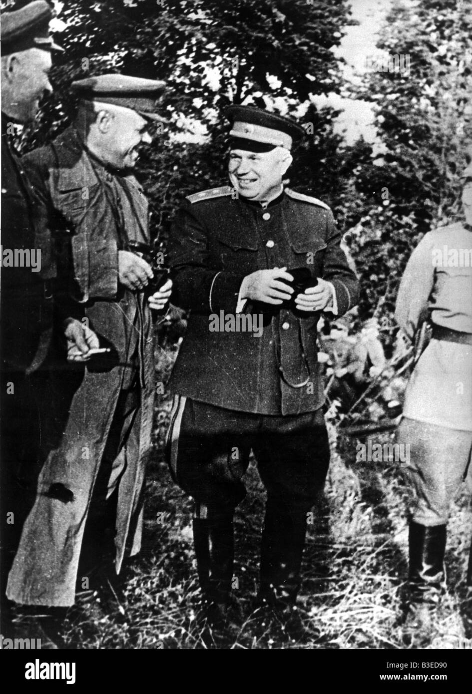 Khrushchev as Lt.General in WWII / 1941 - Stock Image