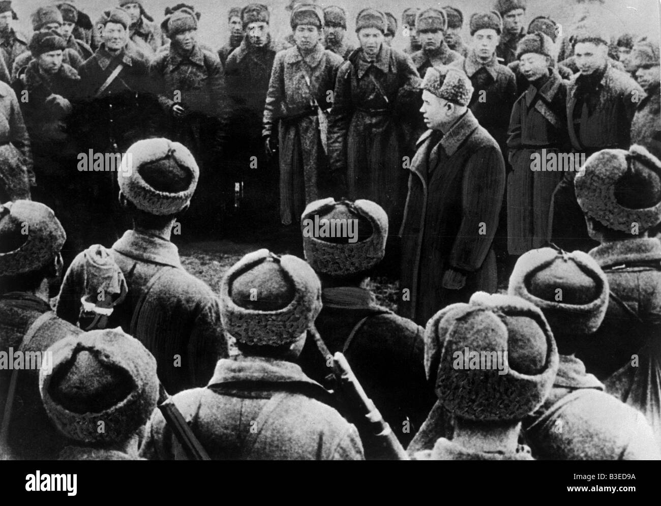 World War Two / Stalingrad / Khrushchev - Stock Image