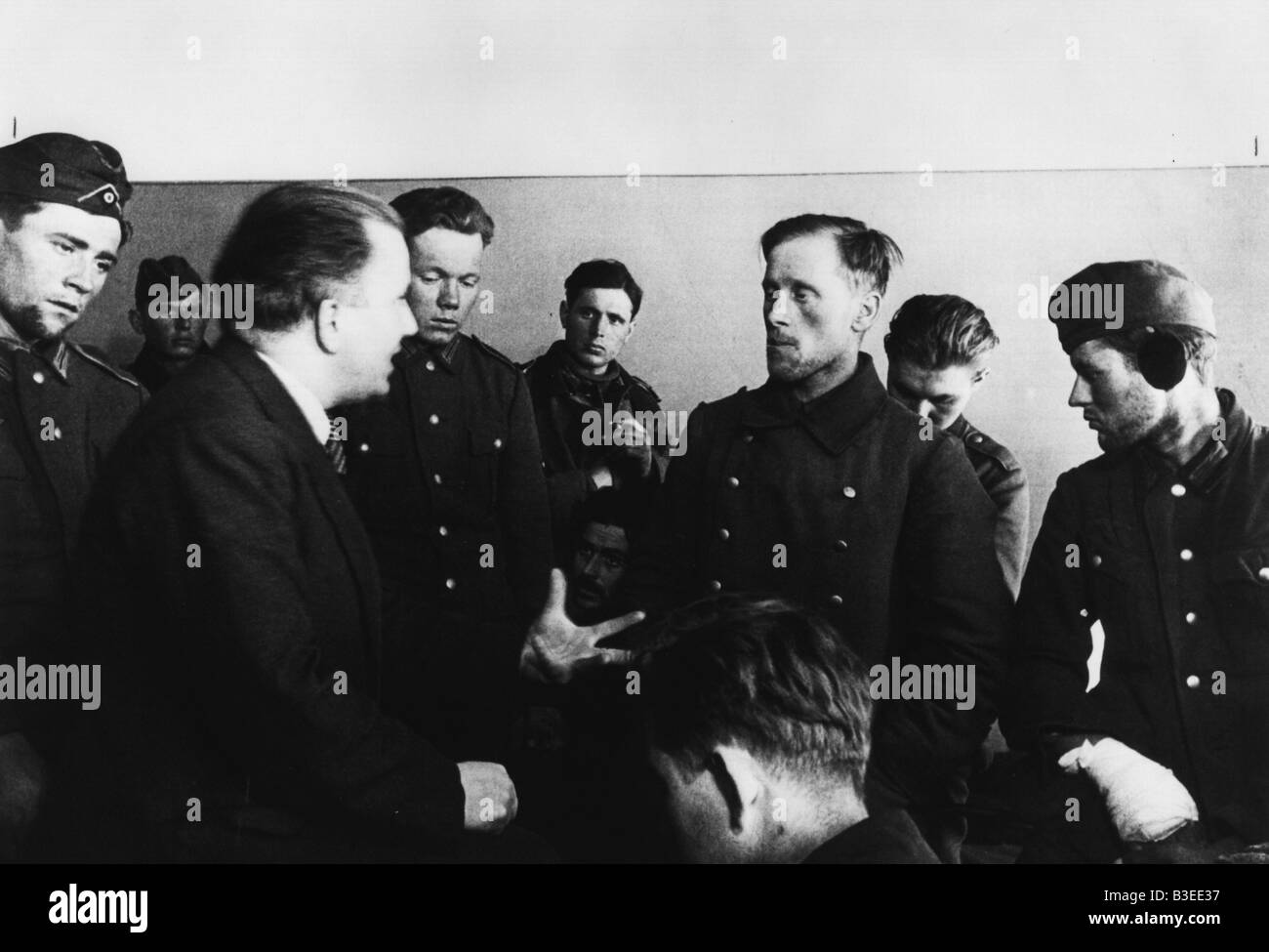 Willi Bredel & German POWs-USSR / WWII - Stock Image
