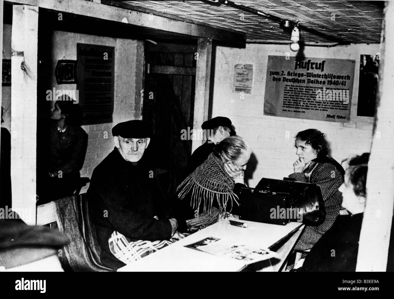 Air raid shelter / Berlin / 1940 - Stock Image