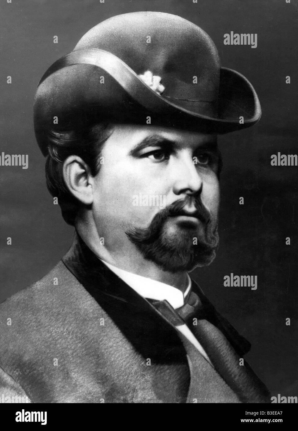 Ludwig II, 25.8.1845 - 13.6.1886, King of Bavaria 10.3.1864 - 13.6.1886, portrait, , Additional-Rights-Clearances - Stock Image