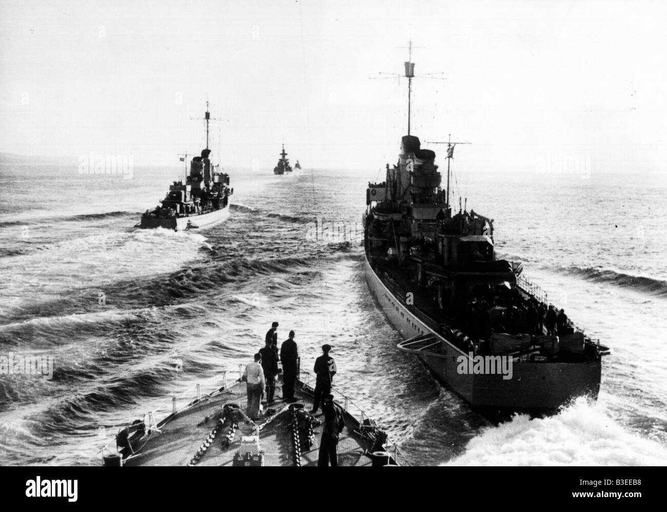 German fleet / World War Two - Stock Image
