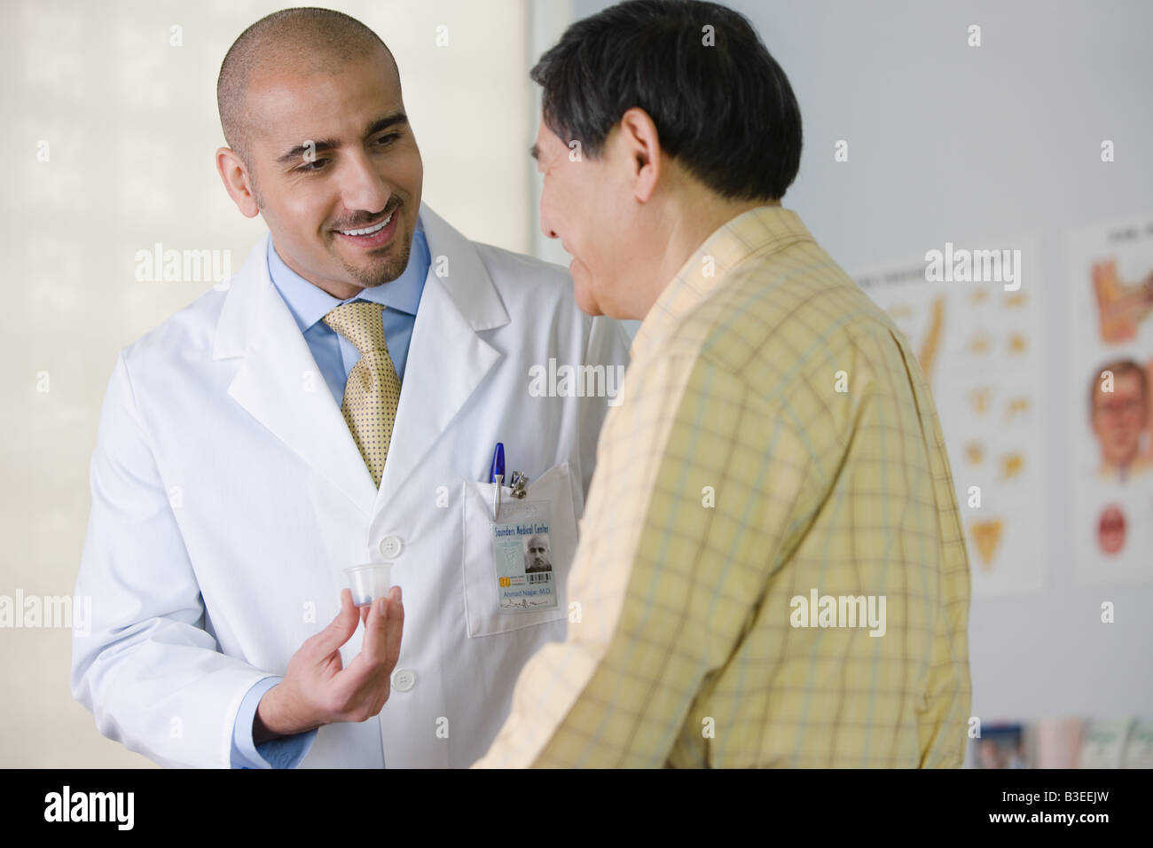 A doctor and a patient - Stock Image