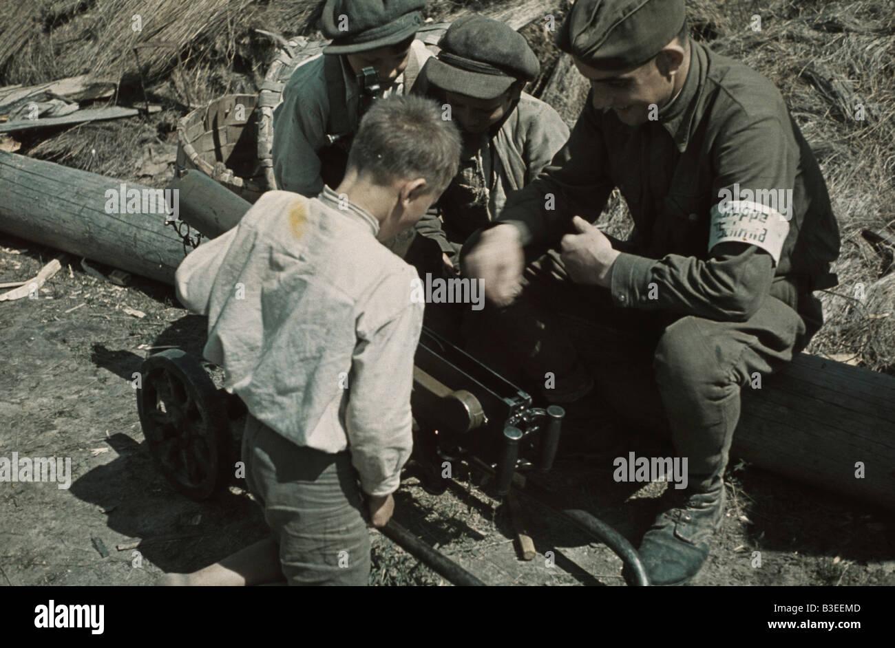 Ukrainian anti-partisan troops / WWII - Stock Image