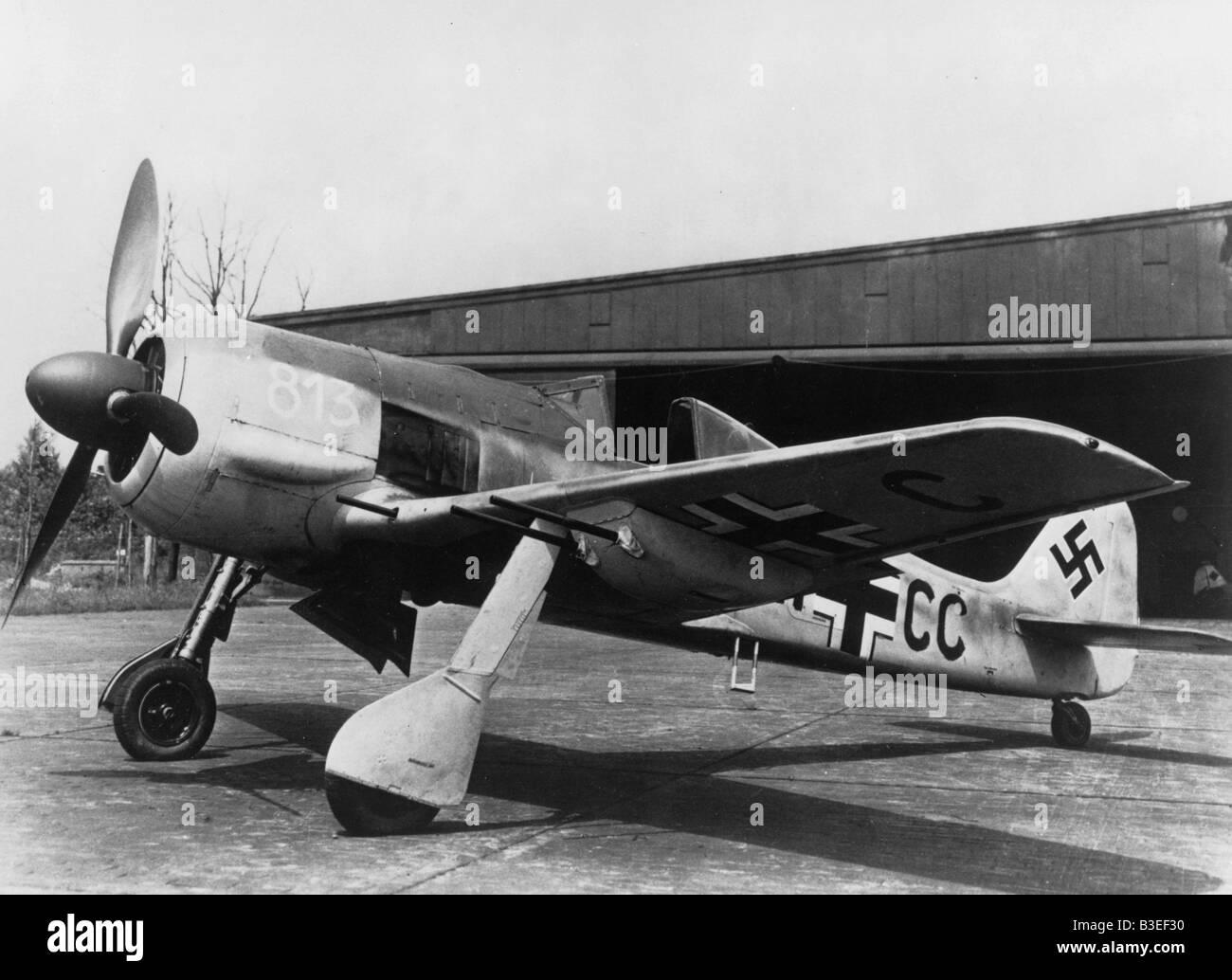 Military / Luftwaffe / Focke-Wulf FW 190 - Stock Image