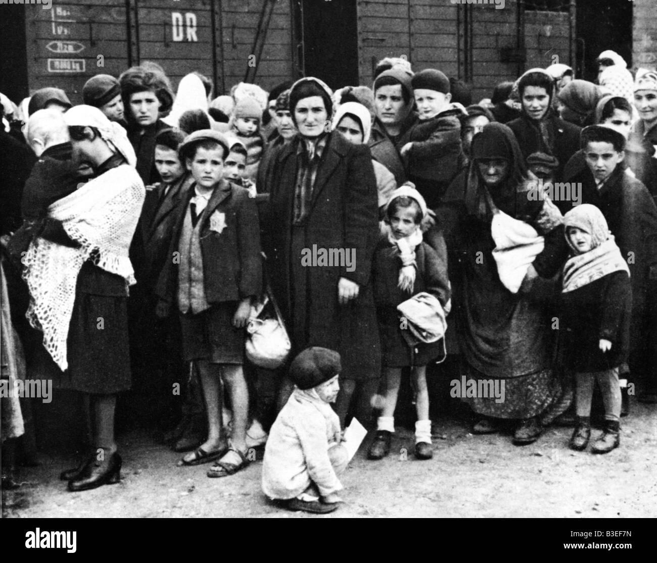 Hungarian Jews / Auschwitz / 1944 - Stock Image