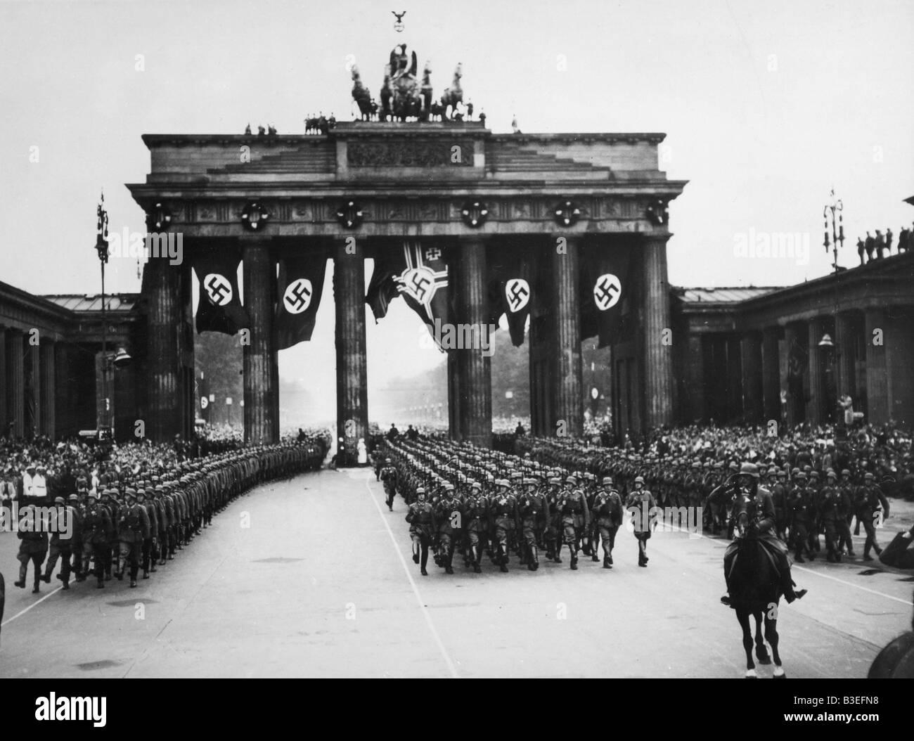 Victory parade / Berlin / 1940 - Stock Image