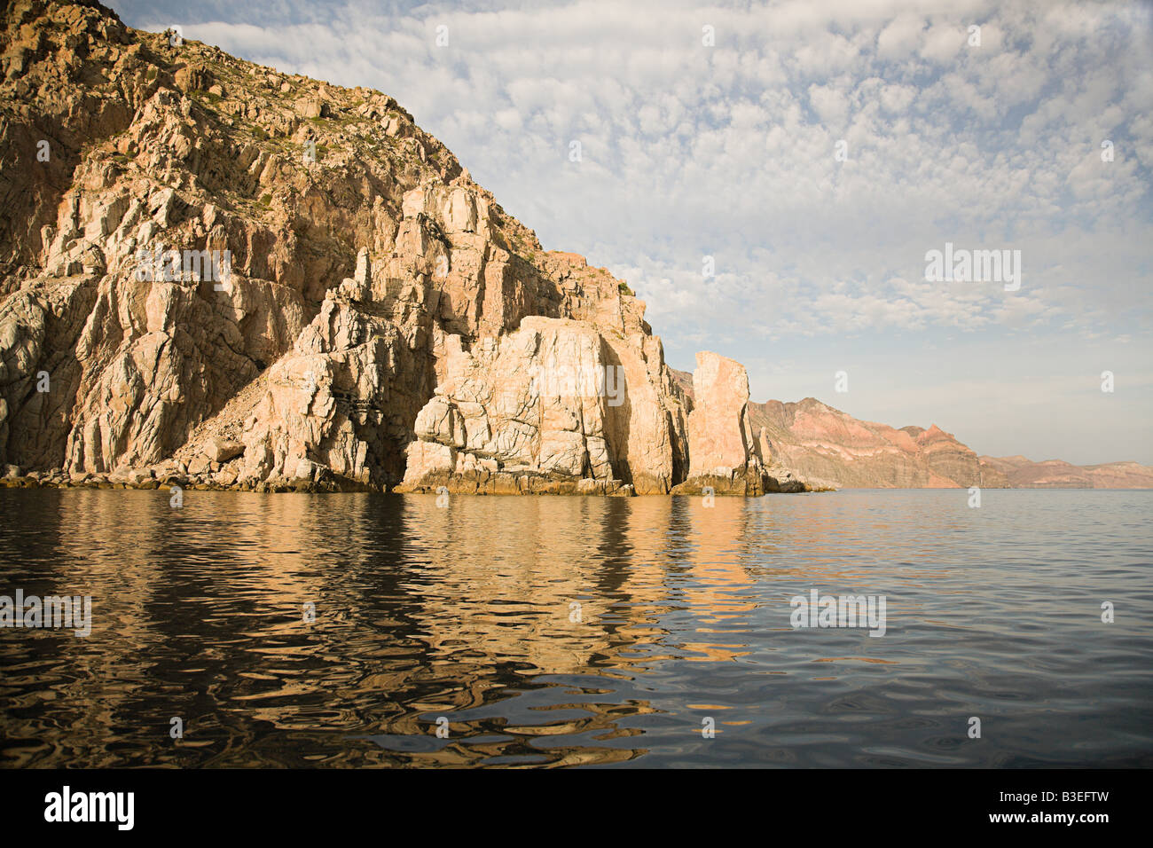 Cliff and sea - Stock Image