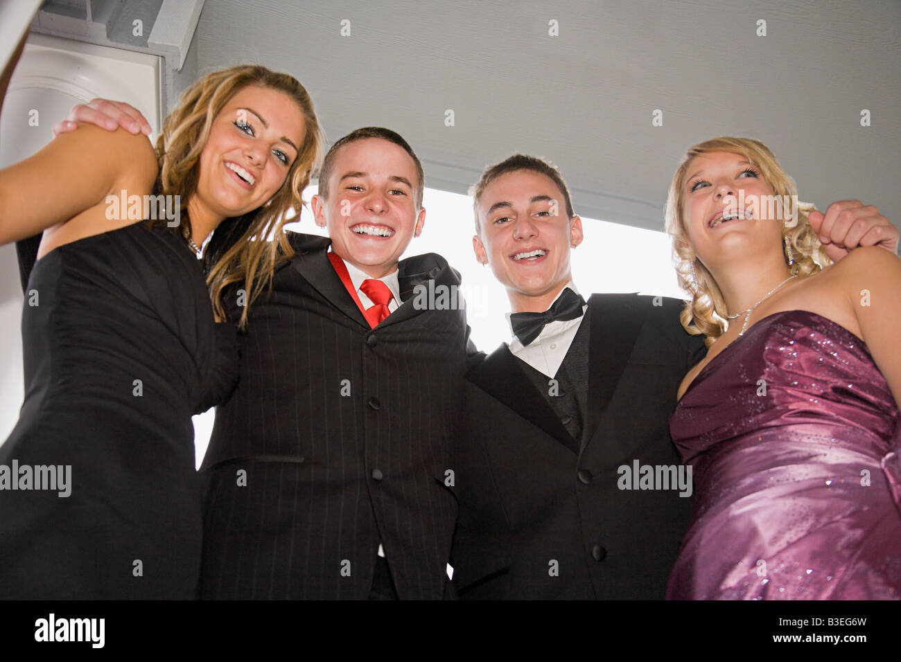 Teenagers ready for homecoming - Stock Image