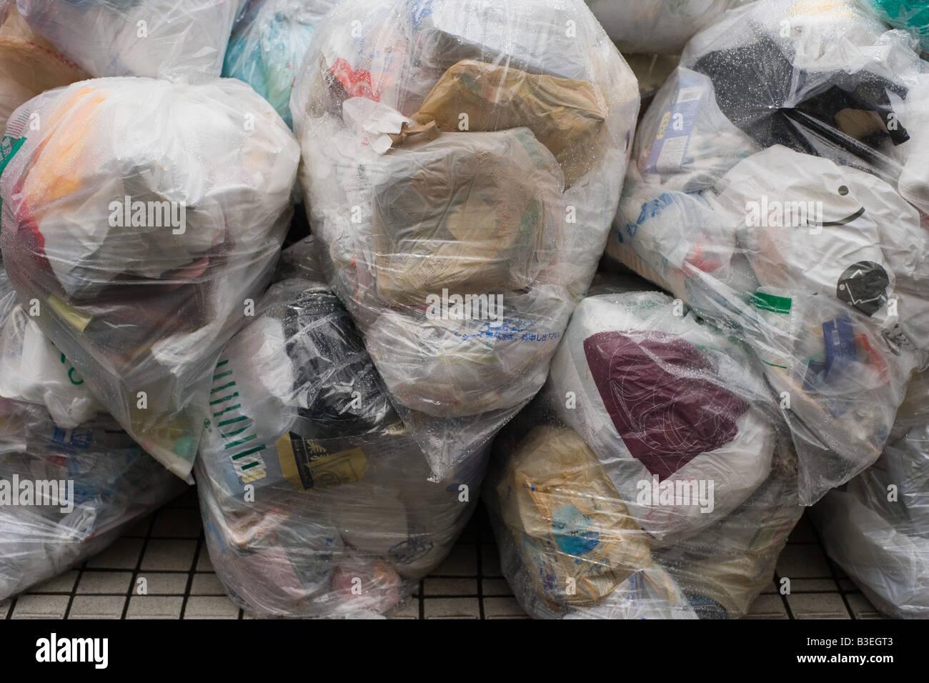 Rubbish bags - Stock Image