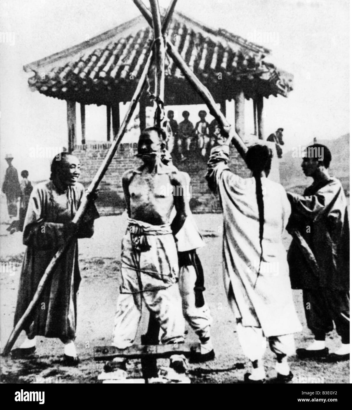 geography / travel, China, politics, Boxer Rebellion, execution of a Boxer, 1900, Additional-Rights-Clearances-NA - Stock Image