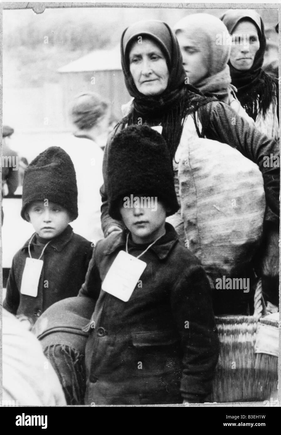 Return from Bessarabia / Photo 1940. - Stock Image