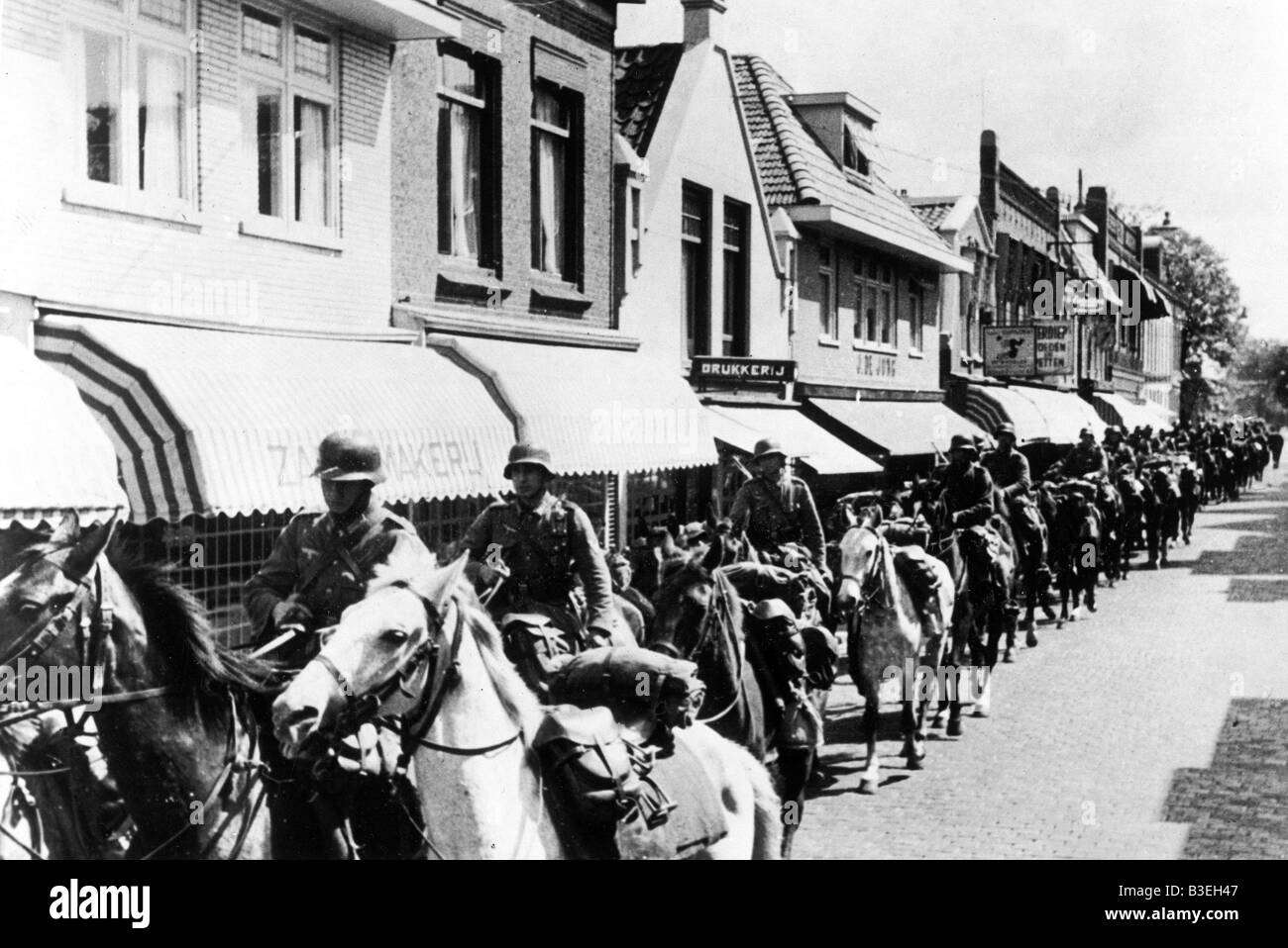 Cavalry in Holland/1940. - Stock Image