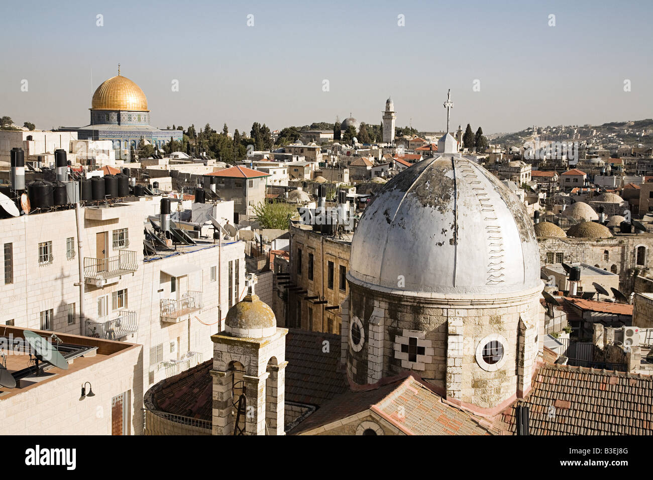 Al-aqsa mosque and dome of the rock - Stock Image