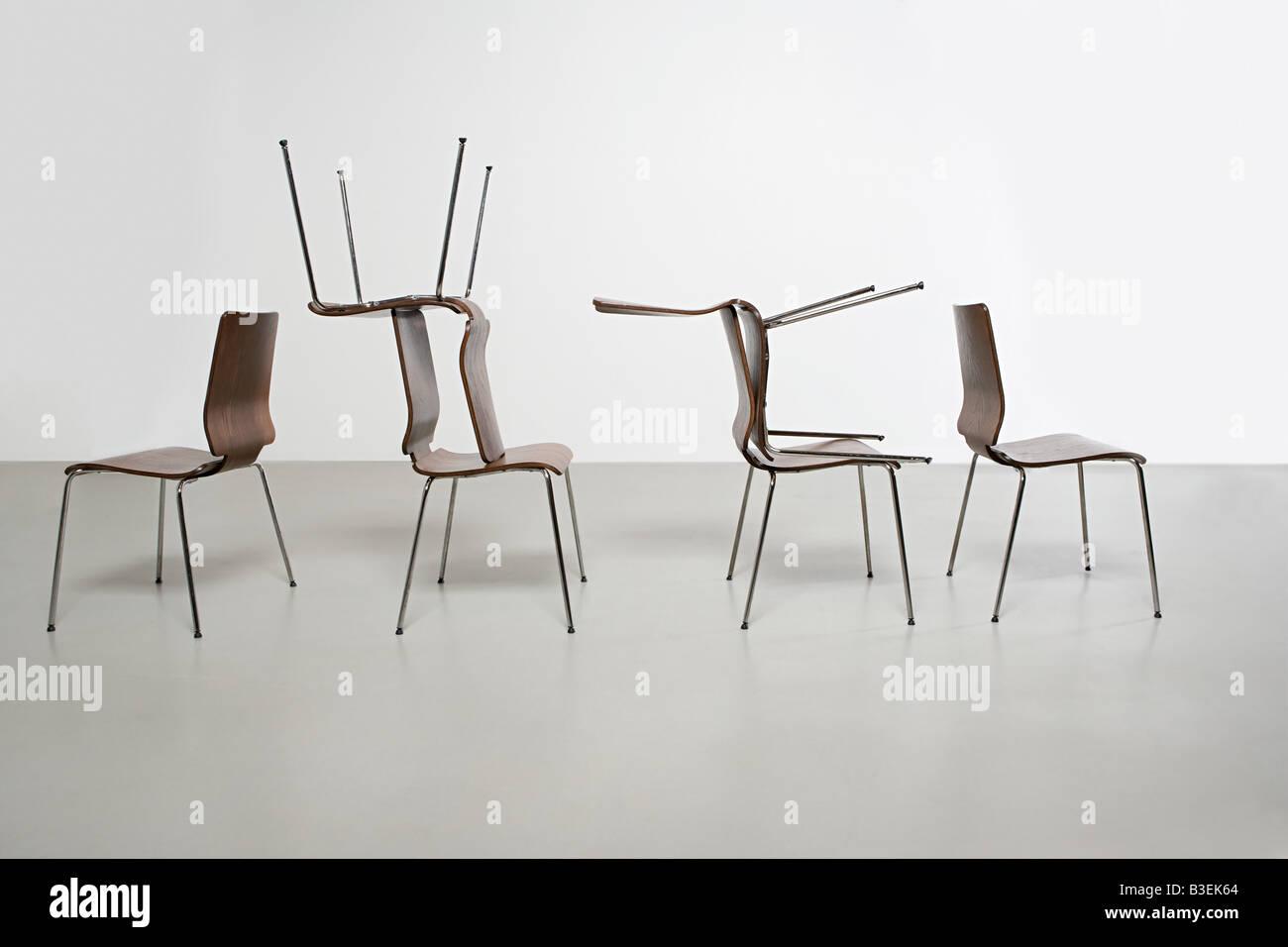 Chairs in arrangement - Stock Image