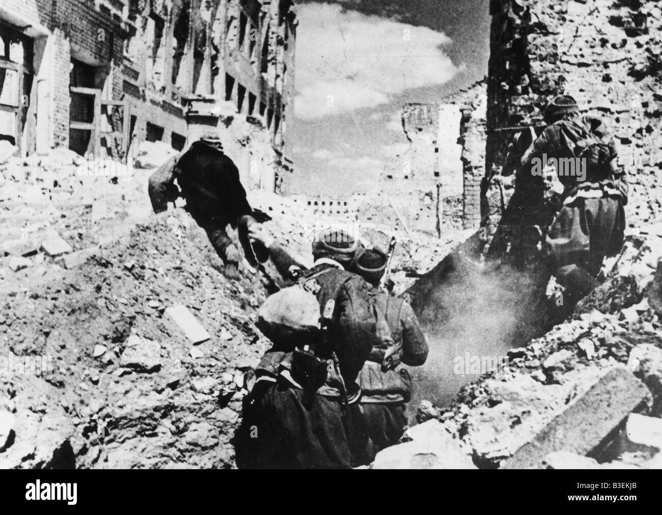Red Army, Trenches, Stalingrad, Oct. '42 - Stock Image